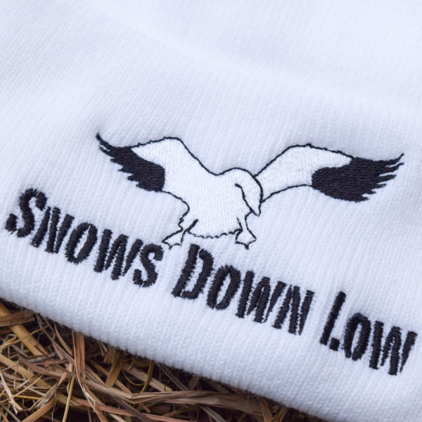 Snows Down Low - Snow Goose Beanie